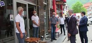 Artvin Valisi Doruk il genelinde vakaların en fazla olduğu Borçka ilçesinde sokakta maske denetimine çıktı
