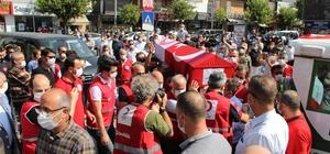 Kızılay şehidi son yolculuğuna uğurlandı Tutkusu olduğu Galatasaray ve Düzcespor'un atkısı tabutta yerini aldı