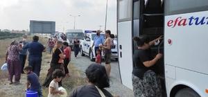Hatay'da konargöçer dilenci operasyonu Dilencilik yaptığı belirlenen 33 kişi il dışına çıkarıldı