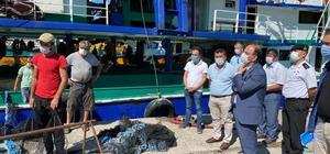 Vali Sinan Güner Tarlaağzı balıkçı barınağında