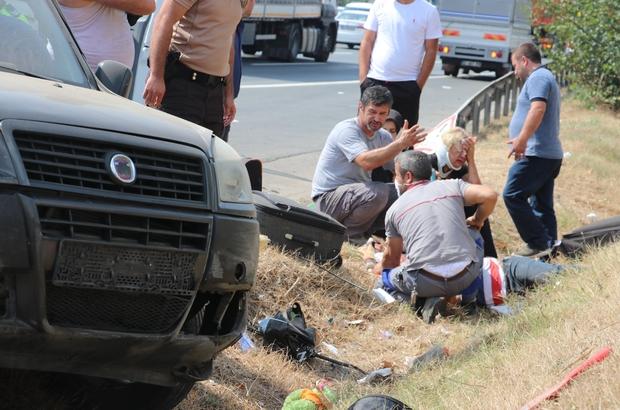 """TEM Otoyolu'nda can pazarı: 2'si çocuk 6 yaralı Kazaya karışan yaralının feryadı yürek burktu: """"Ailemin hali ortada"""""""