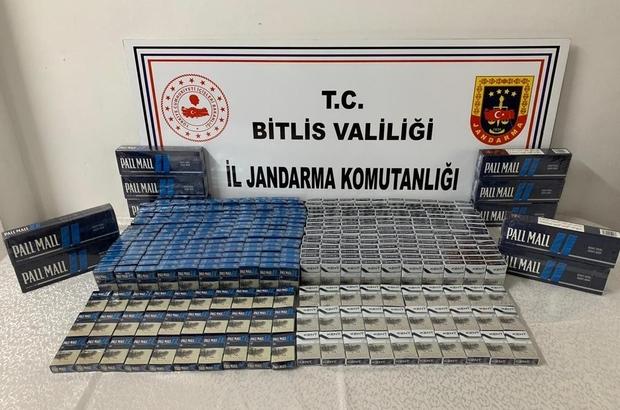 Bitlis'te 865 paket kaçak sigara ele geçirildi