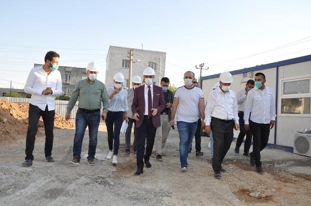 Kaymakam Sinanoğlu yapımı devam eden projeleri inceledi