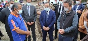 İçişleri Bakan Yardımcısı İsmail Çataklı Giresun'da incelemelerde bulundu