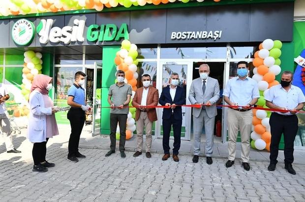 Üreticiden tüketiciye 'Yeşil Gıda Market' törenle açıldı