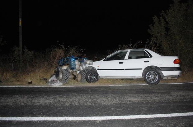 Otomobille çarpışan ATV sürücüsü ağır yaralandı