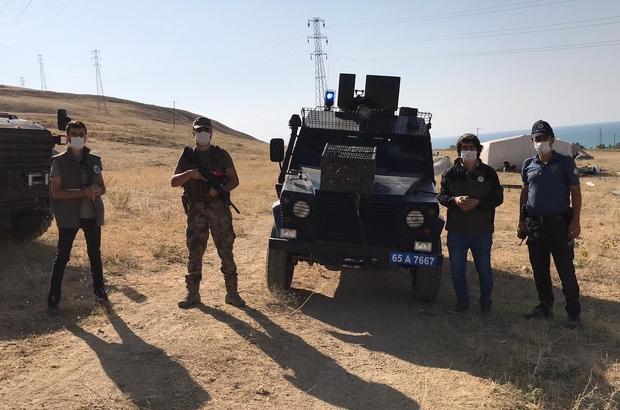 Van'da kafes avcısı polise takıldı
