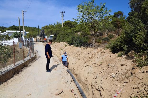 Bodrum Dağbelen'in su sorunu çözülüyor Muğla Büyükşehir Belediyesi, Bodrum Dağbelen Mahallesi'nde su kesintilerinin önüne geçmek için başlattığı terfi ve şebeke hattı çalışmalarını sürdürüyor.