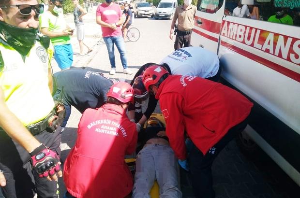 Burhaniye'de otomobil yol kenarına uçtu: 4 yaralı