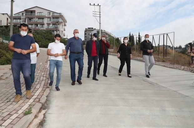 Serdar Mahallesi'nin yolu 1 haftada tamamlanacak