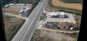 Jandarma ekipleri trafiği havadan ve karadan denetledi 301 araç havadan denetlenirken 4 araç trafikten men edildi