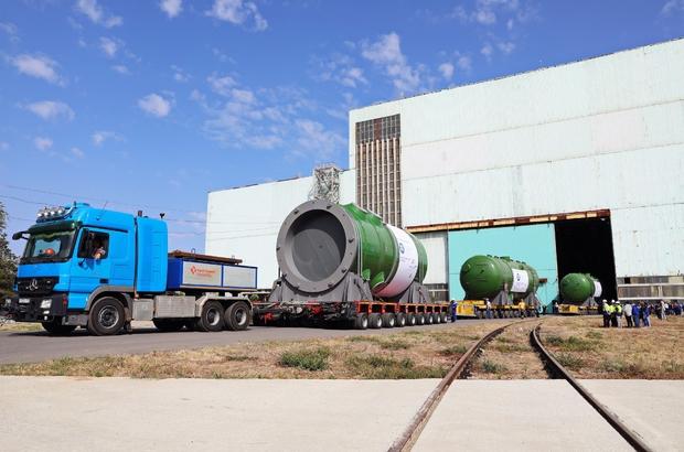 Atommash, Akkuyu NGS'nin ilk ünitesi için üretilen reaktör basınç kabını Türkiye'ye gönderdi