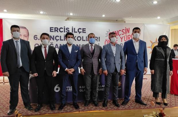 AK Parti Erciş 6. olağan gençlik kongresi yapıldı Tek liste halinde gerçekleşende kongrede AK Parti Erciş Gençlik Kolları Başkanı Muhammed Bahçe seçildi