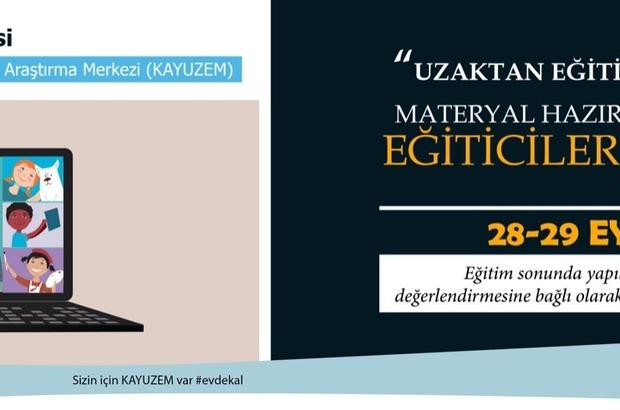Kayseri Üniversitesi 'Uzaktan Eğitim Teknolojileri Materyal Hazırlama Teknikleri Eğiticilerin Eğitimi' 28 Eylül'de Başlıyor