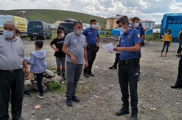 Ardahan'da sokak düğününe Korona baskını Davetlilere ceza yağdı