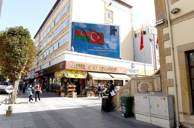 Çorum Belediyesi'nden Azerbaycan'a bayraklı destek