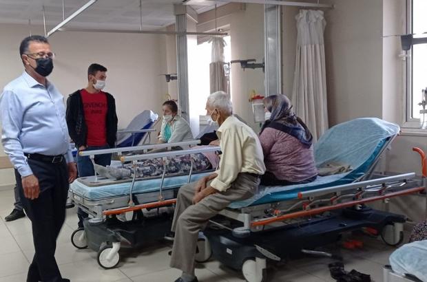 Kazada yaralanan işçilere başkandan 'Geçmiş olsun' ziyareti Alaşehir Belediye Başkanı Ahmet Öküzcüoğlu, Manisa'nın Sarıgöl ilçesinde 26 işçinin yaralandığı kazada 10 kişinin tedavi edildiği Alaşehir Devlet Hastanesini ziyaret etti