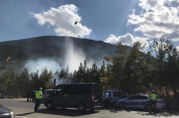 Denizli'deki orman yangınında kundaklama şüphesi Polis ekipleri, ormanı ateşe verdikten sonra kaçan şüpheliyi arıyor