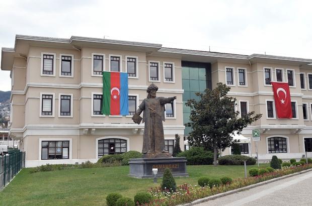 Osmangazi'den Azerbaycan'a bayraklı destek