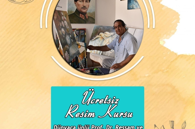 Karacasu'da ünlü ressamdan ücretsiz kurs