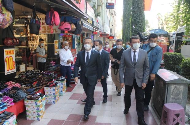 Vali Aksoy başkanlığında Efeler'de korona denetimleri gerçekleştirildi