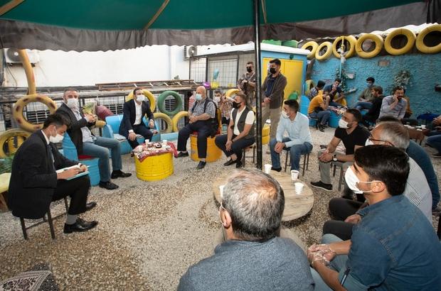 Kaymakam Aslan'dan İran Çarşısı esnafına ziyaret
