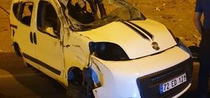 Batman'da otomobil takla attı: 1 yaralı