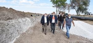 Başkan Aşgın Koçhisar barajın'daki çalışmaları inceledi Çorum'un 50 yıllık içme suyu ihtiyacının karşılacayak Koçhisar Barajı isale hattı büyük ölçüde tamamlandı