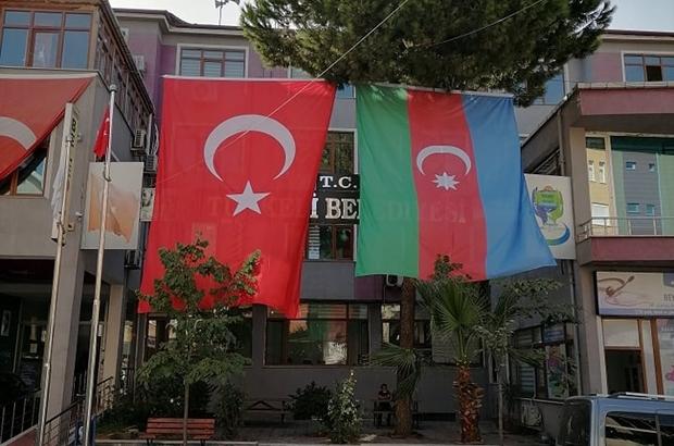 Türkeli'den Azerbaycan'a bayraklı destek