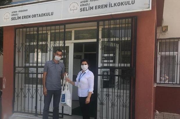 Başkan Günel'den, yüz yüze eğitime başlayacak öğrencilere maske desteği