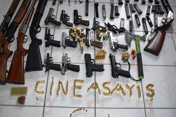 Çine'de silah kaçakçılığı şebekesi operasyonla çökertildi