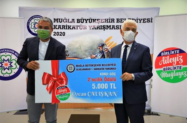 Uluslararası Karikatür yarışmasında ödüller sahiplerini buldu Muğla Büyükşehir Belediyesi tarafından bu yıl 1'incisi düzenlenen 'Göç' temalı Uluslararası Karikatür Yarışmasında dereceye girenlere ödüllere düzenlenen törenle verildi.