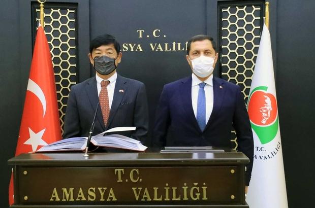 """Japonya Büyükelçi Mıyajıma: """"Her yerde Türk dostluğunu ve Amasya'yı anlatacağım"""""""