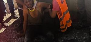 Otoyol şantiyesinde üzerinden silindir geçen işçi hayatını kaybetti