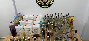 Yalova'da sahte içki imâlathanesine operasyon