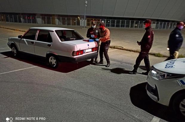 Karantinadan kaçtı, drift yaparken yakalandı 9 bin 291 TL lira idari para cezası uygulandı, ehliyetine el konulup aracı trafikten men edildi