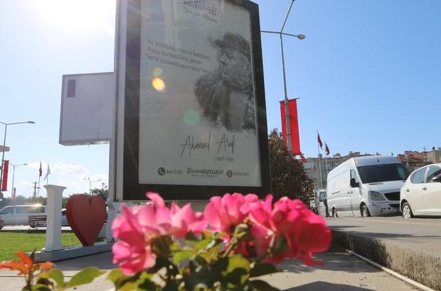 Akhisar Belediyesi, sokakları şiirlerle süsledi