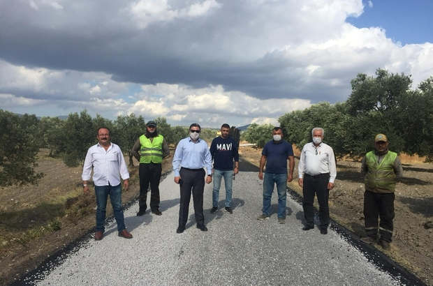 Manisa Büyükşehir Belediyesinin yol mesaisi