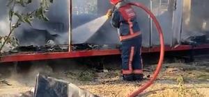 Fındıklıktaki konteyner alev alev yandı, patlayan tüpler korkuttu