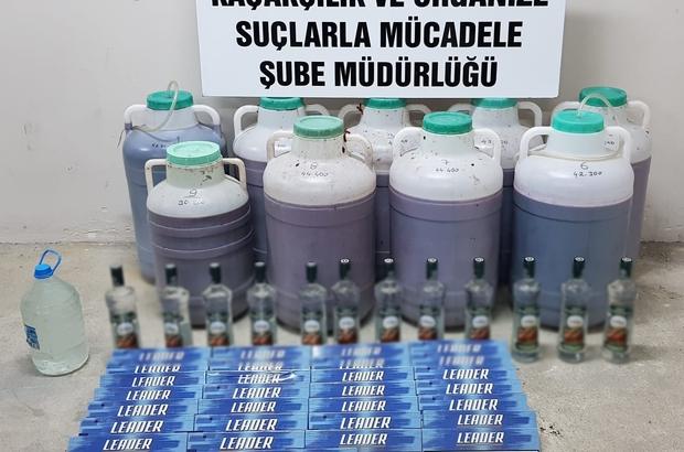 Çorum'da sahte içki operasyonu Operasyonda binlerce litre sahte içki, bandroller ve sahte içki üretiminde kullanılan malzemeler ele geçirildi
