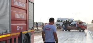 Diyarbakır'daki feci kaza güvelik kamerasına yansıdı 2 kişinin öldüğü, 20 kişinin yaralandığı trafik kazası güvenlik kamerası tarafından kaydedildi