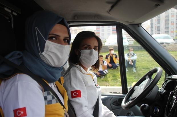 Kadın ambulans şoför adaylarına zorlu eğitim Kayseri 112'de ambulans sürüş teknikleri eğitimleri devam ediyor