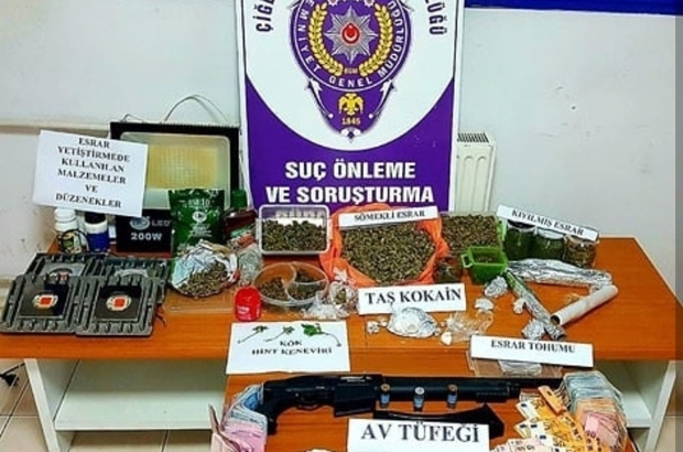 İzmir'de uyuşturucu tacirlerine darbe: 4 gözaltı