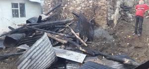 Köyde ekmek fırını yangını