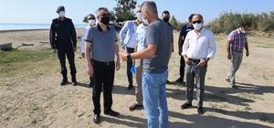 Vali Elban, Kiteboard alanı ile Yumurtalık Lagünü'nde incelemelerde bulundu