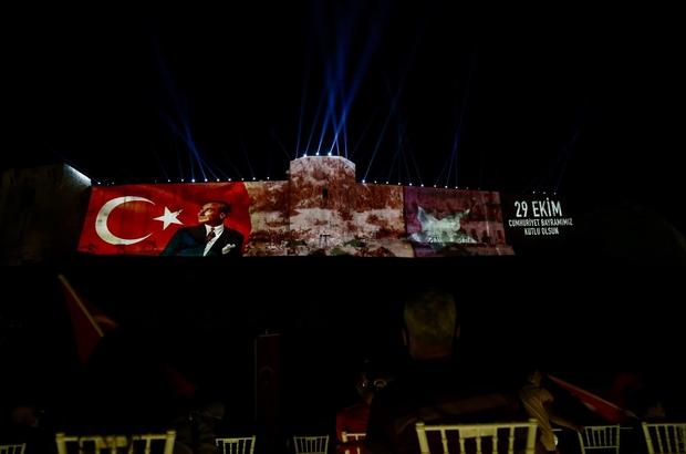 29 Ekim'de Gaziantep kalesinde görkemli kutlama Işık, ses ve görüntü gösterisiyle cumhuriyet coşkusu yaşatıldı