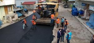 Sinop'ta köylerde ilk İlk kez finişerli sıcak asfalt çalışması yapıldı