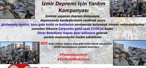Dinarlılar yaşadıkları depremi unutmayıp İzmir için seferber oldular