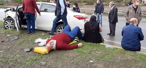D650 karayolunda iki otomobil çarpıştı: 8 yaralı OSB kavşağında meydana gelen kazada can pazarı yaşandı