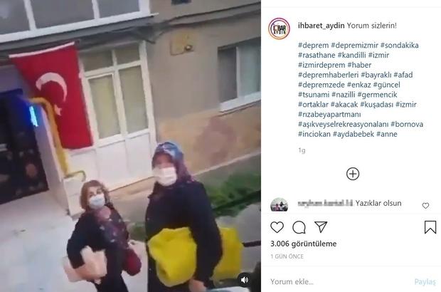 Deprem fırsatçılarını böyle görüntüledi İzmir'de yaşanan depremin ardından depremzedeler için dağıtılan yardım malzemelerini ihtiyaçları olmadıkları halde alan iki kadın bir başka kadın tarafından cep telefonuyla kaydedildi